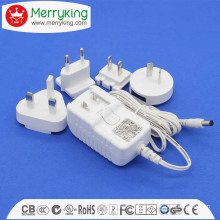 12V1.5A AC/ DC Power Adaptor with Exchangeable AC Plugs