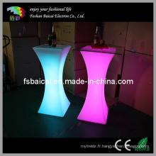 Table clignotante LED pour mariage, bureau d'accueil