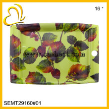 rectangular melamine tray