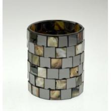 Новый дизайн стеклянной мозаики подсвечник для отдыха