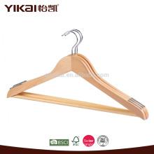 Вешалка для взрослых деревянных вешалок с брезентовыми планками и нескользкими плечами