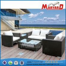 Set de 4 piezas de sofá, muebles de exterior para jardín