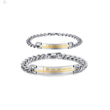 Schwerer Armbandschmuck der personifizierten Paare, Versprechenarmbänder für Paare
