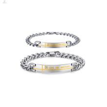 Pulsera pesada para parejas personalizada, pulseras de promesa para parejas