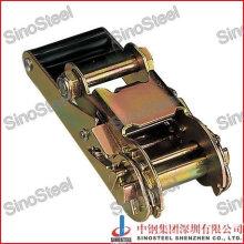 "Yellow Gold Hot Sale 1-1/2""-38mm Standard Handle Ratchet Buckle"