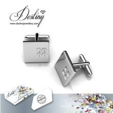 Destiny Jewellery Crystal From Swarovski Square 2 Cufflinks
