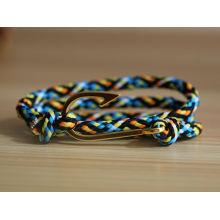 Nuevos productos 2016 pulsera ajustable del cordón del tamaño con el gancho