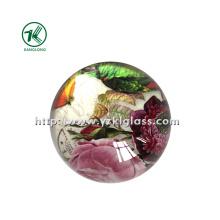 Peso de papel de cristal com papel de decalque (KL140308-1A)