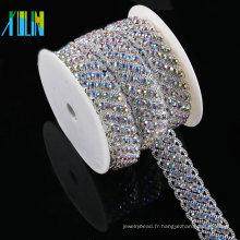 Coupe en cristal strass Applique coupe pour ceinture de mariage nuptiale Crystal Sash