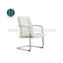 2017 hochwertige weiße pu konferenzstuhl mit metall armlehne