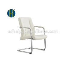 2017 alta qualidade branco pu cadeira de conferência com braço de metal
