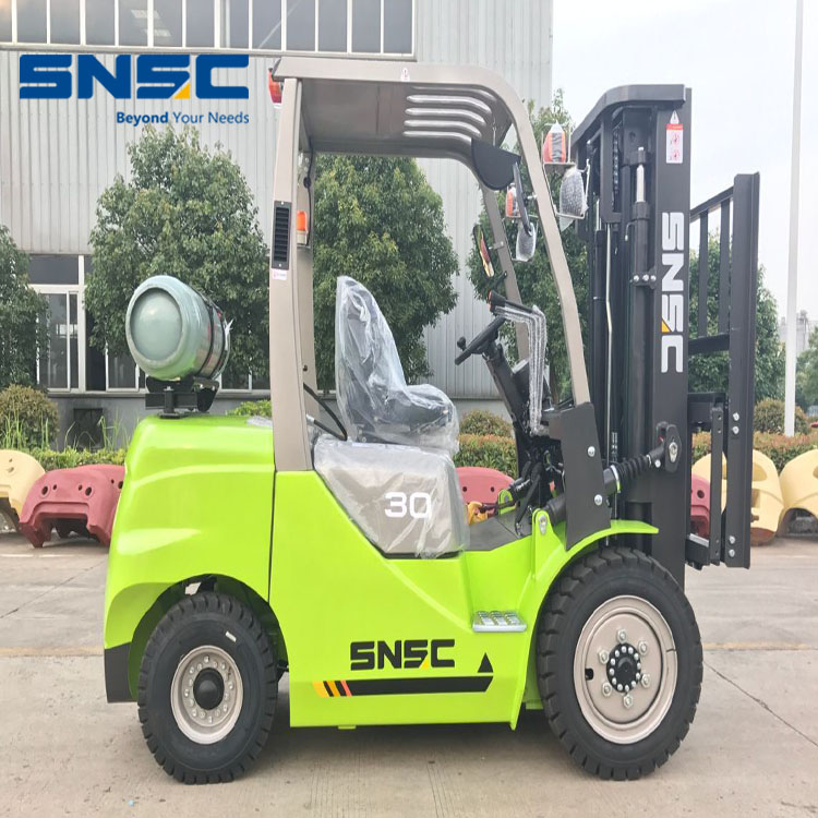 Lpg Gasoline Dual Fuel Powered 3.0 Ton Forklift