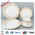 20pcs Cut Edge Super White Porcelain Dinnerware Set