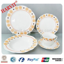 20pcs Cut Edge Super White Porcelain Dinnerware Set