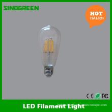LED de la vendimia de Edison Bombilla 8W LED Filamento Bulbo St64 LED