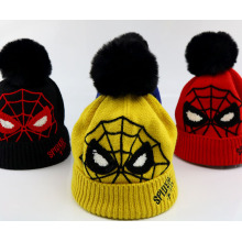 Spiderman knitted hat for winter kids