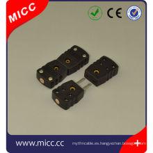 j tipo de conectores de termopar de 3 vías macho y hembra
