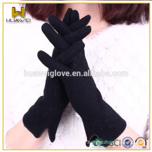 Women cheap fashion smartphone gloves touch screen winter wool gloves