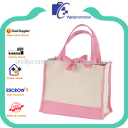 Well promotion stripe polyester beach tote bag wholesale