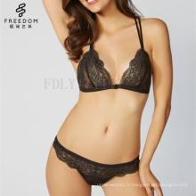 Gros Lady Panty Bra Sexy Slip Chine Produit Fille Dentelle Femme Lingerie Sous-Vêtements Ensemble