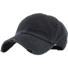 Solid blank damaged washed cotton  baseball cap