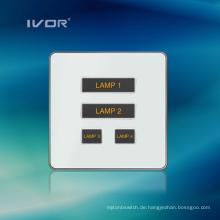 4 Gangs Beleuchtung Schalter Touch Panel Aluminiumlegierung Material (AD-ST1000L4)
