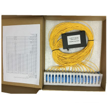 1 * 32 com conector Sc / Upc Tipo de Caixa ABS Fibra PLC Splitter