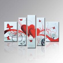 Handgemaltes modernes Ölgemälde auf Leinwand für Wanddekoration (FL5-052)