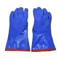 Перчатки с покрытием из ПВХ синего цвета, хлопковая подкладка, кашемир
