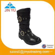 Black Child Safety Leather Boot