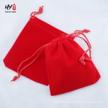 Wholesale granel bolsa de veludo macio e simples