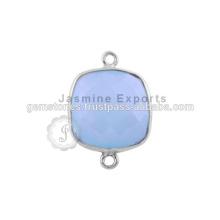 Edelstein-Silber-Lünetten-Steckverbinder 925 Sterling Silber Lünette