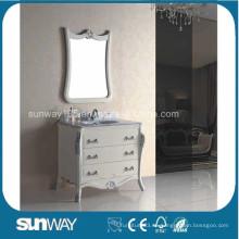 Vanidades del cuarto de baño del estilo del estilo de Europa con la tapa de mármol (SW-8017A)