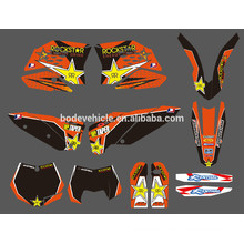 Mini moto stickers / Dirt Bike Decal / Motocicleta / motocross GRAPHICS kit for Motorcycle (DST0001)