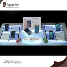 phone Counter display tray with LED lights