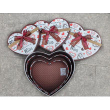 Heart Shaped Storage Gift Box Set of 3