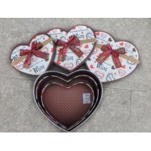 Coração em forma de armazenamento caixa de presente conjunto de 3