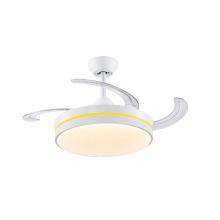 Белый потолочный вентилятор с лопастями и светодиодной подсветкой