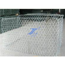 Pared hexagonal galvanizada de Gabion de la malla de alambre del cinc galvanizado de la INMERSIÓN 2X1X1m
