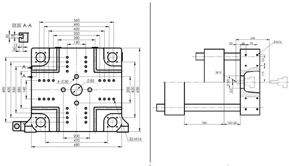Plastic Injection Machine Clamping Unit Drawings
