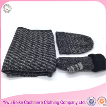 2016 Yiwu factory supply kintted women winter scarf and hat set