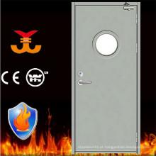 Escape resistente a fogo com porta de vidro redonda