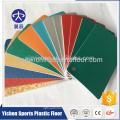 Estera de piso de bádminton antideslizante portátil de material orgánico de PVC