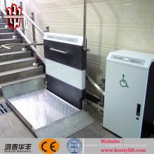 assistant handicapé ascenseur de fauteuil roulant extérieur incliné foldanle élévateur de fauteuil roulant