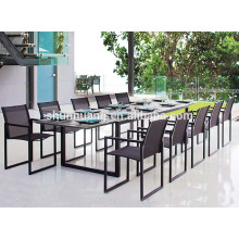 aluminum frame teslin fabric beach outdoor dining sets folding chair and table