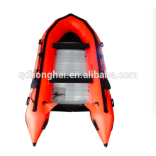 Venta caliente alta calidad inflable barco/embarcación semirrígida