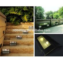 solar sensor light stair step led solar powered led sensor light waterproof solar sensor stair light