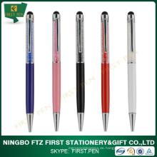 Gute Qualität Bling Kugelschreiber Metall mit Customized Logo Werbegeschenk Stift