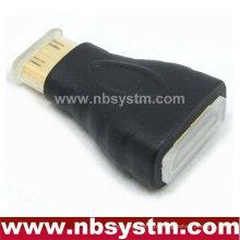 Mini adaptador HDMI A tipo fêmea para mini tipo C macho com tampa de pó