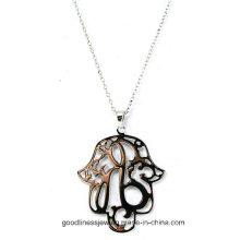 Diseño especial y bien diseñado 925 flor de plata de la vida de plata colgante al por mayor P5015